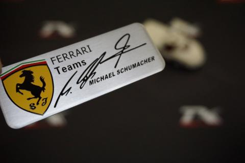 Ferrari Teams Michael Schumacher Torpido Body 3M Metal Logo